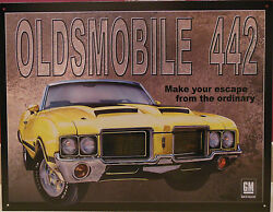 Vintage Replica Tin Metal Sign Billboards Poster Gm 442 Oldsmobile Gmc Chevy 869