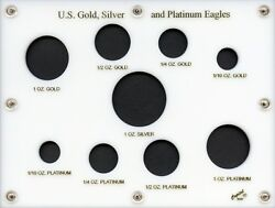 Capital Plastic 6 X 8 9-coin U.s. Gold Silver And Platinum Eagles - White