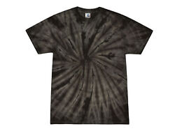 Black Tie Dye T Shirts Adult S M L XL 2XL 3XL 4XL 5XL Cotton Colortone