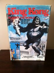 1976 Mego - King Kong Against The World Toy W/box And Insert-not Complete Look