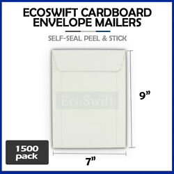 1500 - 7 X 9 White Cd/dvd Photo Shipping Flats Cardboard Envelope Mailers 7x9