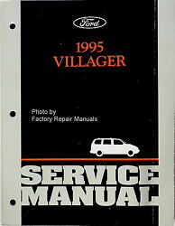 1995 Mercury Villager Factory Service Manual  Original Ford Mini-Van Shop Repair
