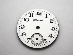 Hampden Watch Dial For Pocket Watches White Vintage 26.76mm Black Numeral Markrs