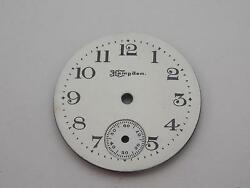 26.9mm Watch Dial For Pocket Watches Hampden White Vintage Black Markers Nos