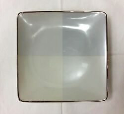Lenox Blue Frost Square Accent Plate 7 3/4ivory Bone China New Made In U.s.a.