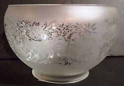 Etched Design Gas Lamp Shade 4 Fit. Fixture Globe Vianne France