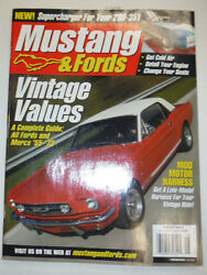 Mustangs amp; Fords Magazine Vintage Values amp; Get Cold Air August 2003 032515R2