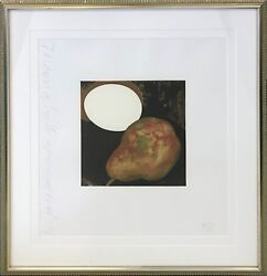 Donald Sultan 2 Pears A Lemon And An Egg 1994 | Signed Print | Make An Offer