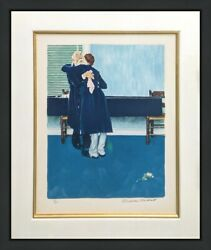 Norman Rockwell Then For Three Minutes Or Maybe Four 1972   Rare Signed Print