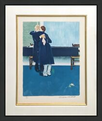 Norman Rockwell Then For Three Minutes, Or Maybe Four 1972 | Rare Signed Print