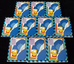 Lot Of 10 1994 Skybox The Simpsons Smell-o-rama Trading Card Set 10 Nm/mt