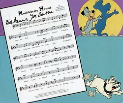 Hanna And Barbera The Huckleberry Hound Theme Song Autographed