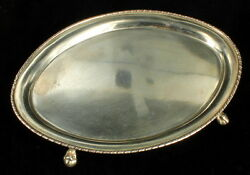 Antique Victorian Silver Plate Mini Plateau Perfume Tray Ball And Claw Ftd Talons