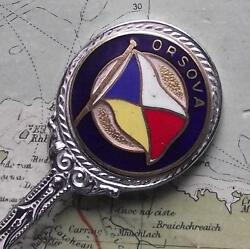 Vintage Ss Orsova Pando Pacific And Orient Shipping Line Enamel Spoon