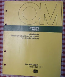 John Deere Operatorand039s Manual Electronic Scale Attachment For Grinder-mixer Feed