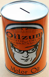 Vintage Style Oilzum Collectors Edition Motor Oil Can Piggy Bank New 354
