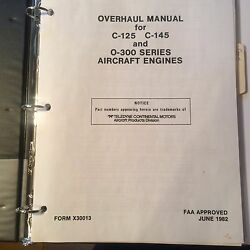 Continental Overhaul Manual For C-125 C-145 And O-300 Engines