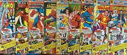 Lot Of 9 Sealed 1976 Marvel And Dc Super Hero Stamps Iron Man Thor Wonder Woman