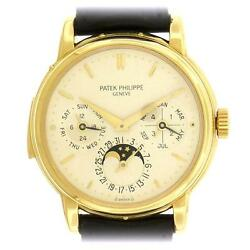18k Gold Patek Philippe Ref 3974J Minute Repeater Perpetual Calendar 150th Anniv