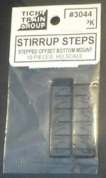 Tichy Train Group 3044 Stirrup Steps Stepped Offset Bottom Mount 10 Pcs In Pk