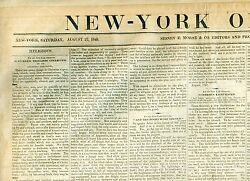 Newspaper New Steam Fire Engine Invention Horse Drawn Wins Gold Medal 1840