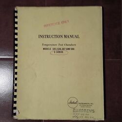 Statham Sd3 Sd6 Sd7 Sd8 C-series Temperature Test Chambers Instruction Manual