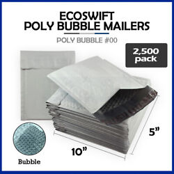 2500 00 5x10 Poly Bubble Mailers Padded Envelope Shipping Supply Bags 5 X 10