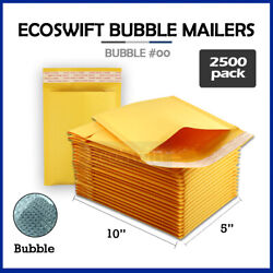 2500 00 5x10 Self Seal Kraft Bubble Mailers Padded Shipping Envelopes 5 X 10