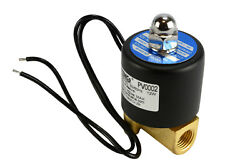 1/4 Npt Electric Brass Solenoid Air Water Valve Nc 110v Ac Pneumatic