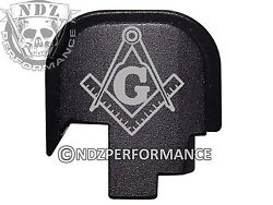 For Smith Wesson Rear Slide Back Plate Shield Sandw 9 40 Blk Masonic Compass 1