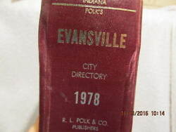 1978 City Directory For Evansville In Names, Addresses, Telephone Numbers And Ads