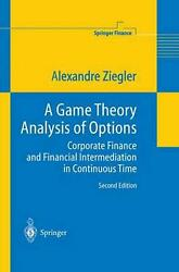 Game Theory Analysis Of Options Corporate Finance And Financial Intermediation