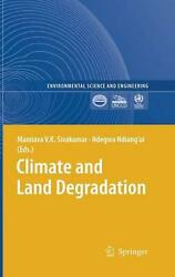 Climate and Land Degradation (English) Hardcover Book Free Shipping!