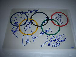 Usa Olympic Gold Medal Winners,mark Spitz,carl Lewis+6 Td/holo Signed 8x10 Photo