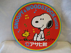 Vintage Japanese Snoopy And Woodstock Shoes Store Display Japan Peanuts Schulz Htf