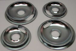 Drip Pans And Rings Set For Vintage Ge And Hotpoint Ranges 2/6 And 2/8