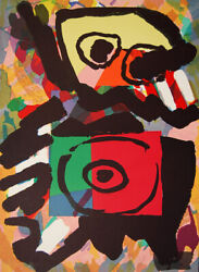 Karel Appel Personage In Red Signed Original Abstract Art 1979