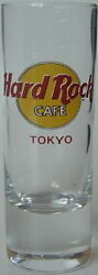 Hard Rock Cafe Tokyo Japan 4 Shot Glass Cordial Classic Hrc Logo With Red Text