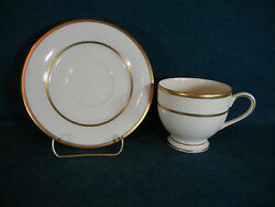Mikasa Ivory Flair Pattern Lap24 Gold Trim Cup And Saucer Sets