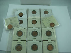 Canada Lot Of One Cents 1947 1950 1951 1956 1957 1958 1959 1962 1963 1964 1965