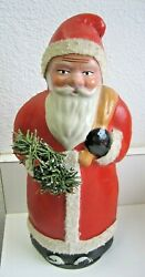 Antique Christmas Belsnickle Santa Candy Container Large Size