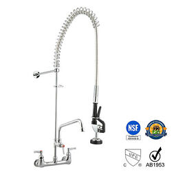 Aquateriorandreg Commercial Pre-rinse Faucet Swivel With 12 Add-on Faucet Cupc Nsf