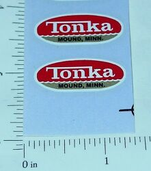 pair 1962 to 1969 tonka oval logo stickers