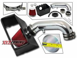 3.5 Red Heat Shield Cold Air Intake For 09-15 Dodge Ram 1500/2500 5.7l V8