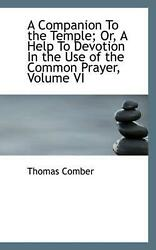 A Companion To The Temple Or A Help To Devotion In The Use Of The Common Praye