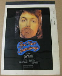 Paul Mccartney Red Rose Speedway 1975 Us Cashbox Magazine Ad Color Separations