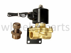 3/8npt Brass Valve Electric Solenoid Bracket And Slow Down For Air Bag Suspension