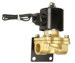3/8npt Brass Valve Electric Solenoid With Mounting Bracket Air Bag Suspension