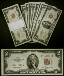 Fr. 1509 To 1512 2 1953 Legal Tender Pack 100pcs extra Fine+/-