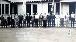 1940 Vintage Shell Oil Company Coastal Division Employees Panorama Photograph